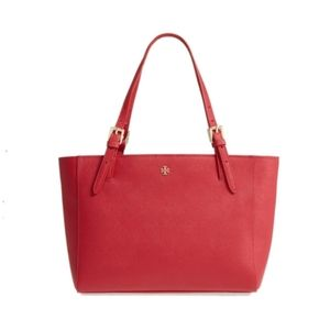 Tory Burch red York small buckle tote